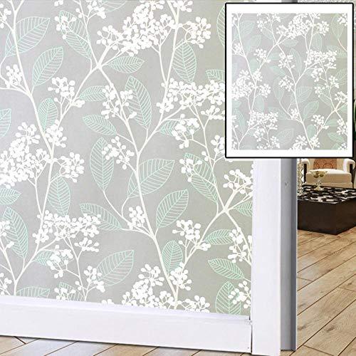 1 stks Glas Sticker Raamfoliestickers Raamdecoratie PVC Brede Ondoorzichtige Privacy Statische Glas Raamfolie Badkamer Home Decor 7,45x100 cm, Verenigde Staten