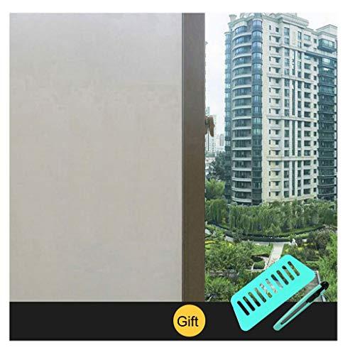 Sparrow raamfolie, badkamer, balkon - transparant, ondoorzichtig dik bereide raamfolie, zelfklevend, met lijnmarkeringen, gratis gereedschappen,