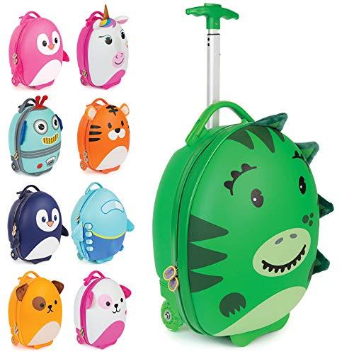 boppi Tiny Trekker Maleta Trolley Infantil Equipaje Cabina 2 Ruedas - 17 litros - Dinosaurio