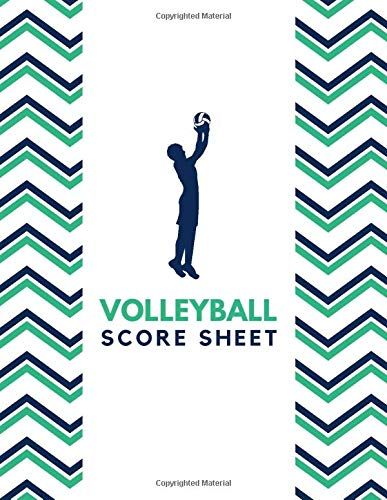 """Volleyball Score Sheet: Training and Record Log Book Scoring Sheet, Score Notebook Journal for Outdoor Games, Gifts for Volleyball Coaches, Players, ... 8.5""""x11"""" with 120 Pages. (Volleyball Logbook)"""