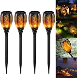 QDY -Antorcha Solar Luz de Llama Solar para jardín, Luces de jardín 4/6/8...