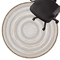 床用 シート 椅子 マット スチェア用フロアマット ローパイルカーペット 滑り止めチェアマット フローリング用サイレントフロアプロテクターマット セラミックタイル ラミネート(Size:80cm/31in,Color:C)