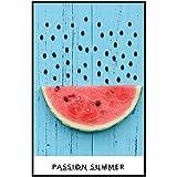 YHSM Minimalist Delicious Fruit Watermelon Poster Kiwi Bild