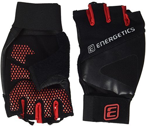 ENERGETICS Herren 510 Handschuhe, Schwarz/Rot, XL