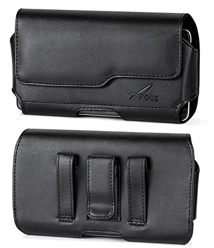 AGOZ for Samsung Galaxy Note 8, Note 9, Note 10+, S8 Plus,S9 Plus,Premium Leather Pouch Case Holster Cover Belt Clip Loops Magnetic Closure(to fit w/OTTERBOX Defender,Commuter,LifeProof,Mophie Juice)