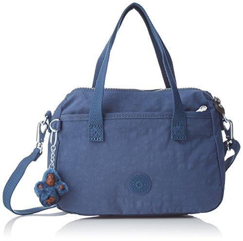 Kipling EMOLI, Bolsa de Asa Superior para Mujer, azul 23.5x18x12 cm