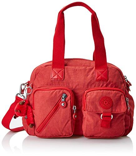 Kipling Damen DEFEA Henkeltasche, Rot (Spicy Red C), 33x24.5x19 cm