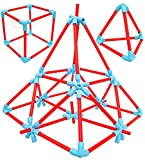 136 PCS: The set contains total 136 Pcs - 36 Sticks of 60MM, 36 sticks of 100 MM, 36 Sticks of 140 MM, 20 Star Connectors and 8 V Connectors UNLEASE CREATIVITY: With Toyshine Flex Sticks, kids can create and build over a million combinatons of patter...