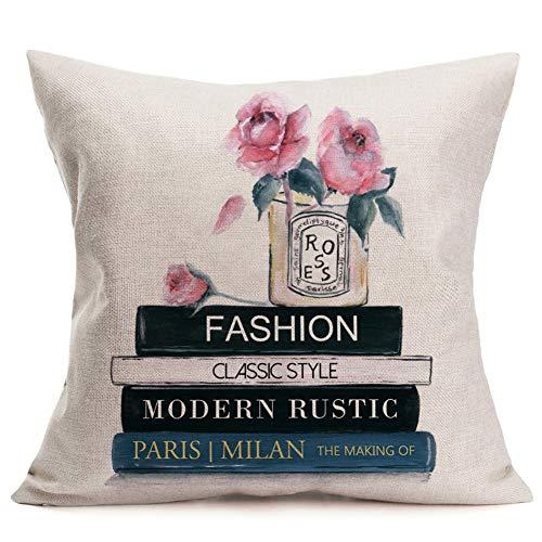 ShareJ Kussensloop Parfum Bloemen Handgetekende Franse Chanel aquarel Trend Aroma Design Square 18