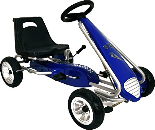 Discover Bargain Kid Racer Pedal Car Pole Position Kart Youth Ages 4 to 7 With Safety Handbrake - Ho...