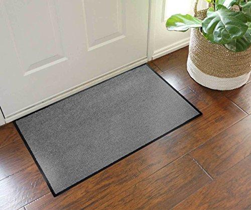 Luxberry® Premium Fußmatte / Sauberlaufmatte für Eingangsbereiche | Fußabtreter | Schmutzfangmatte in vielen Größen als Türvorleger Innenbereich und Außenbereich (Grau, 40 x 60 cm)