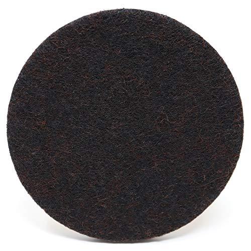 Adsamm Adsamm® | 4 x Filzgleiter | Ø 80 mm | Braun | rund | 5.5 mm Starke Selbstklebende Möbelgleiter in Premium-Qualität