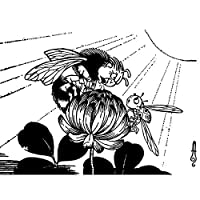 Artzybasheff Verotchka蜂の花のイラスト ポスター A3サイズ [インテリア 壁紙用] 絵画 アート 壁紙ポスター