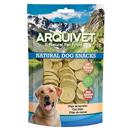 Arquivet Chips de bacalao - Snacks perro naturales - Natural Dog Snacks - 100 g