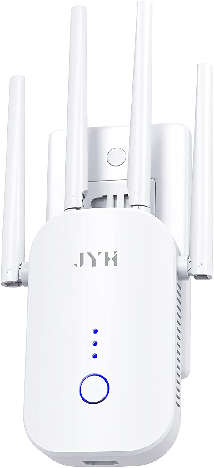 WiFi Range Extender 1200Mbps, JYH Wi-Fi Booster Wi-Fi Signal Booster for Home 2021 Upgraded Model 2.4GHz & 5GHz WiFi Extender Dual Band with Ethernet Port