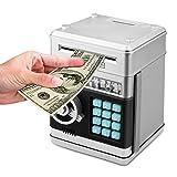 SODIAL Cochon Tirelire De Code ATM électronique D'Animation Argent Liquide Peut Roulement Automatique Billet d'argent Cadeau De BO?Te De Préservation pour Les Enfants (Argenté + Noir)