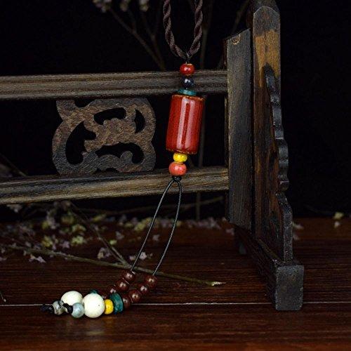 Axiba Rouge-Vent Lone Pull National du Accessoires vêtements chaîne Collier Bijoux Faits Main Cadeaux de Vacances