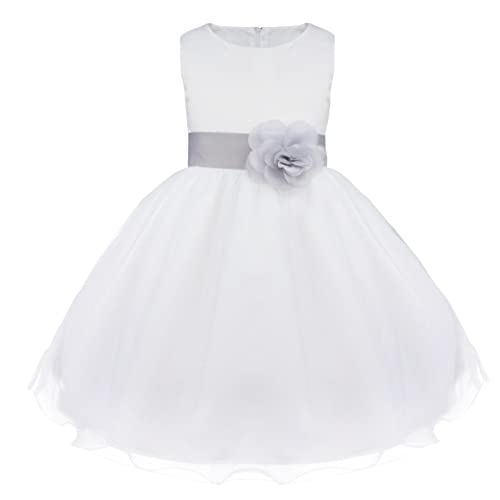 1b27dcbe7 Flower Girls Dresses Tulle Wedding Pageant Bridesmaid Christening Princess  Kids Clothes 2-14 Years White