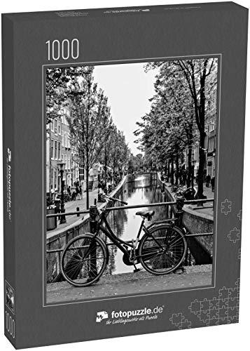 Puzzle 1000 Teile Fahrrad auf Einer Amsterdamer Kanalbrücke - Klassische Puzzle mit edler Motiv-Schachtel, Fotopuzzle-Kollektion 'Holland'
