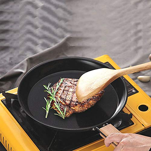 HAOXUAN Sartén Antiadherente de 8 Pulgadas, Mini sartén para panqueques con Mango de Madera Resistente al Calor, Adecuado para panqueques, Huevos fritos, Huevos, frittata y Pescado, 6 Pulgadas