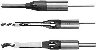 Fräsning, Träbearbetningsverktyg 6/8 / 9.5/12.7mm HSS Square Hole Borr Bit Auger Bit Stålmortiserande borrbehöv (Color : S...