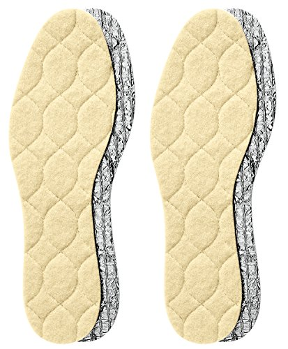 Pedag 145 Solar Insulating Insoles with 3 Layer Thermal Shield, 2 Pair, US 11L/8M/EU 41