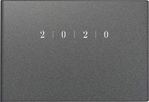 rido/idé 701756380 Taschenkalender Septimus (2 Seite = 1 Woche, 152 x 102 mm, Kunststoff-Einband Reflection, Kalendarium 2020) grau