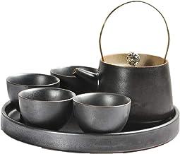 Tea Set Household Japanse Theepot met handvat en Tea Set Service for 4 volwassenen Exquisite Excellent Home Decoration Ges...