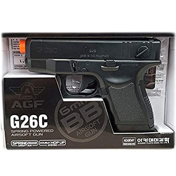 Academy Plastic Model G26C Spring Powered Airsoft BB Gun with Double Hop Up System 17235 Black