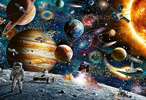 Diamond Painting Space by Number Kits Round Full Drill Planet Universe Paint by Diamond Art for Adults Embroidery Cross Stitch Crystal Rhinestone Pictures Arts Craft for Home Decor Gift 15.8x11.8inch