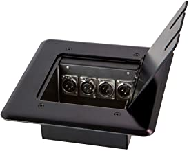 Monoprice Floor Box 4-Channel 2 XLR Female 2 XLR Male for Connecting Recording Equipment, Video, Speakers, or Monitors - Stage Right Series