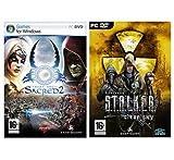 PACK CHAOS : Sacred 2 Fallen Angel + STALKER Clear Sky : PC DVD ROM , FR