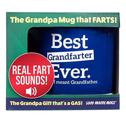 Farting Grandfather Coffee Mug - Best Grandfarter Ever Oops I Meant Grandfather - Funny Grandfather Mugs - 7 Fart Sounds - Fathers Day Mug - Mugs for Grandfather Birthday - Best Grandfather Mug