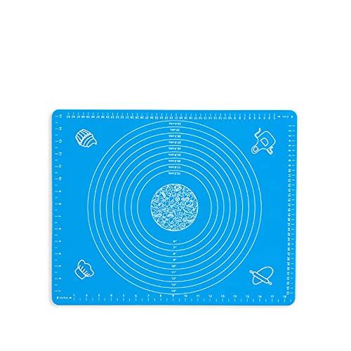 Mat de silicona Matera for hornear Estera de la masa de silicona Reutilizable antideslizante antideslizante con medición, pasta de masa fondant Hapas al horno con rodillo, 50 x 40 cm ( Color : A )