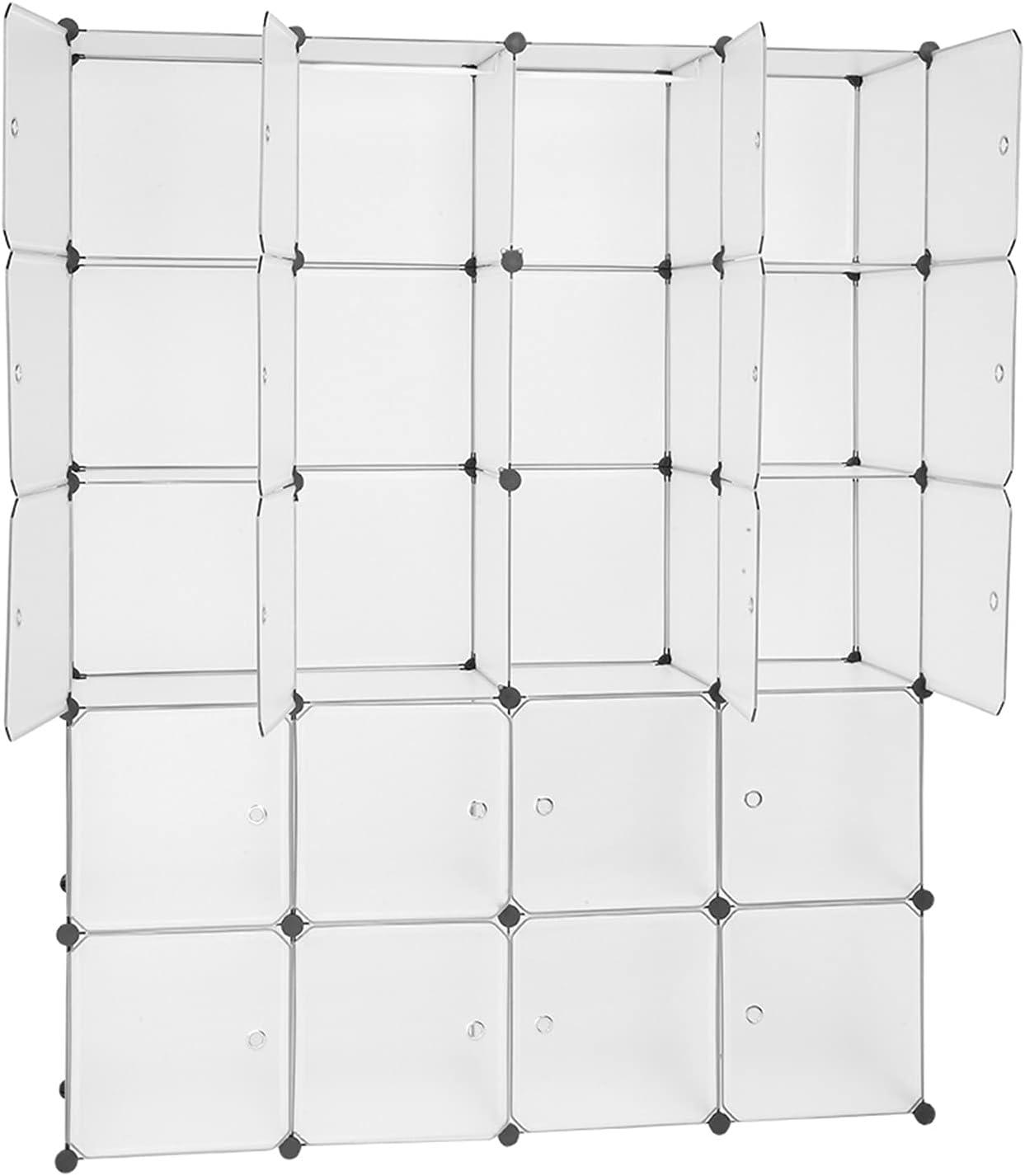 Mushugu gt3-DL Exquisite 20 Storage Max 83% OFF Organizer Cubby Plastic favorite Cube