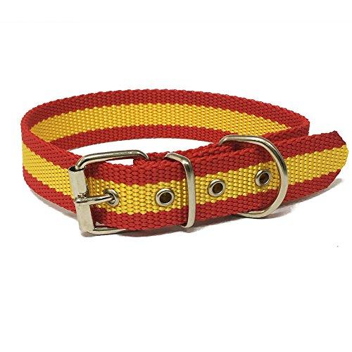 Happyzoo Collar Bandera de España 35 cm para Perro