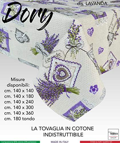 Nappe Dory Provençale Lavande Lavande Lilas - Cm. 140 x 140 x 4 personnes.