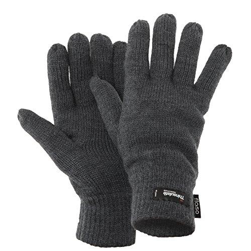 Floso - Gants d'hiver thermiques Thinsulate (3M 40g) - Homme (Taille unique) (Gris)