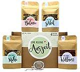 Eine kleine Auszeit Tee Geschenk-Box mit 4 verschiedene Sorten Tee und Tee-Ei...