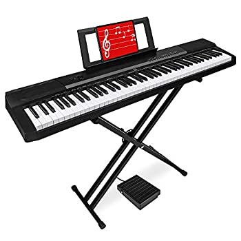 Best Choice Products 88-Key Full Size Digital Piano Electronic Keyboard Set for All Experience Levels w/Semi-Weighted Keys Stand Sustain Pedal Built-In Speakers Power Supply 6 Voice Settings