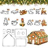 Vordas 18 Piezas Moldes Galletas Navidad 3d, Acero Inoxidable Galletas Cortador para Hacer Galletas Glaseado Azúcar y Decoración de Pasteles