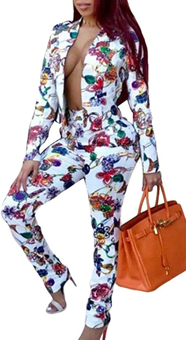 Women's Fashion Blazer with Trousers Casual Elegant Business Suit Sets 2 Piece Outfits