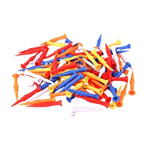 sharprepublic 100 Piezas/Lote a Granel Colores Mezclados Plástico Step Castle Golf Tees tee 75mm 3