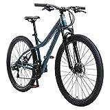 BIKESTAR Bicicleta de montaña Hardtail de Aluminio, 21 Marchas Shimano 29' Pulgadas | Mountainbike con Frenos de Disco Cuadro 18' MTB | Azul Gris