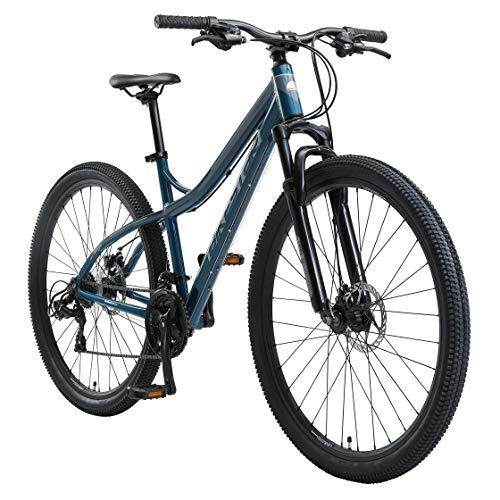 BIKESTAR Hardtail Aluminium Mountainbike Shimano 21 Gang Schaltung, Scheibenbremse 29 Zoll Reifen | 18 Zoll Rahmen Alu MTB | Blau & Grau