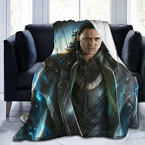 AQEWXBB Manta Loki con impresión por un lado, adecuada para sofás, camas, mantas de viaje y camping, tipo ligero para todas las estaciones (LIKI2,135 x 200 cm)