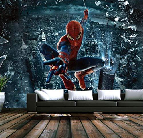 Benutzerdefinierte Wandbild Tapete 3d Große Wandbild Spiderman Batman Iron Man Tapete Wandbild Kinderzimmer Hintergrund Cartoon Tapete Breite 220cm * Höhe140cm pro