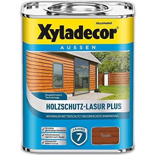 Xyladecor Holzschutz-Lasur PLUS Teak 2,5 l Außen Imprägnierung Langzeit