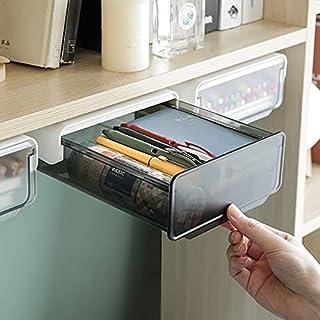 Pen Holder Under Desk Organisers, Desktop Storage, Suitable for office/ bedroom/ school/ kicchen (black)…