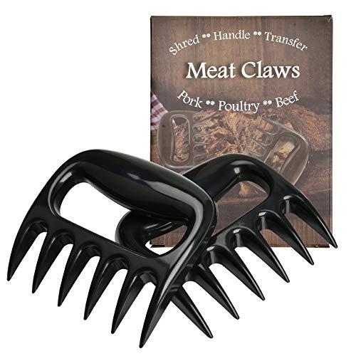 FungLam Fleisch Krallen für Pulled Pork Meat Claws (2 Stück) Fleischkrallen Fleischgabel Bärenkralle Shredder für BBQ Zartes Fleisch Barbecue Salat